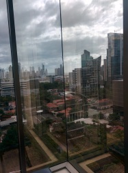 "View from our Panama City hotel -- what our cab driver referred to as ""Miami small."""