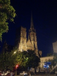 Iglesia de los Capuchinos at night