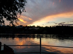Beautiful sunset at Carlos Paz