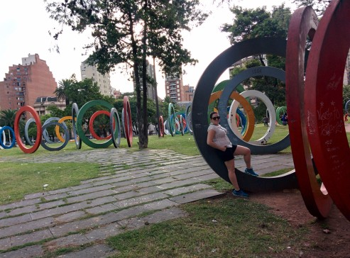 Sarmiento Park is full of great sculptures