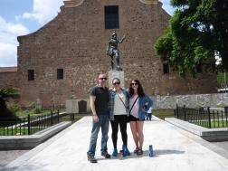 Matt, me, and Kelly in front of the founder of Cordoba
