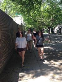En route to our day at the park (Miranda, Adam, Natalie, Kelly)