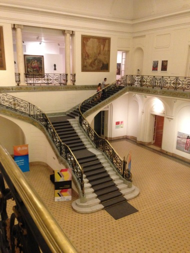 Grand staircase at the Ferreyra Palace museum - someone lived here!