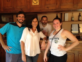 My local tennis friends! Gero (coach), Maria, Angel (birthday boy)