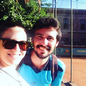 Me and Gero in front of the tennis court