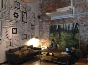 One of the new workspaces, La Maquinita
