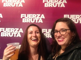 Kelly and I at Fuerza Bruta