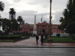 Plaza de Mayo and La Casa Rosada by day