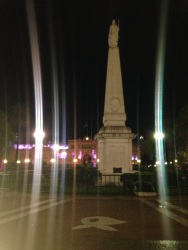 Plaza de Mayo by night