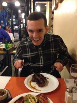 Ryan is here! Steak at Calden