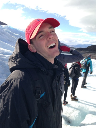 Ryan is so happy to be in Patagonia