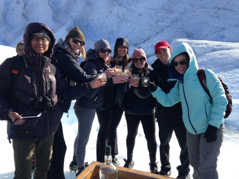 Cheers from Patagonia! Random man, Liz, Arestia, Michelle, me, Ryan, Carolyn