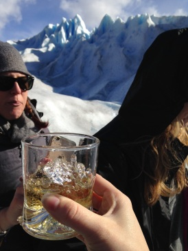 Whiskey with glacier ice!