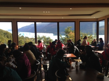 They even have a cafe overlooking the glacier!
