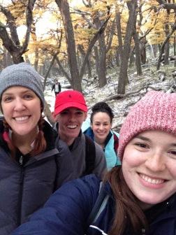 Snow falling (me, Arestia, Ryan, Carolyn)