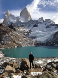 Ryan in front of Laguna de los Tres