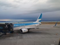 Our plane, with Lago Argentino as the backdrop. So long, Patagonia!