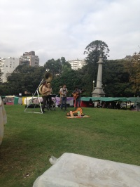 Musicians in Recoleta fair