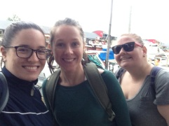 Me, Sarah, Samantha at Tigre market