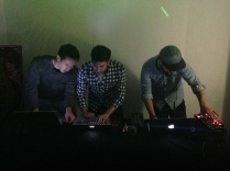 Our resident DJs, Jacek, Jeff, Jeremy