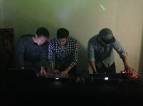 Our resident DJs, Jacek, Jeff, Jeremy