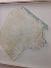 Jorge Macchi exhibit: Buenos Aires map
