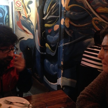 Last dinner with Javi and Paula = passionate debate on social policies