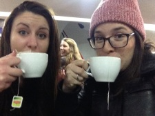 Kelly and I have our first coca tea