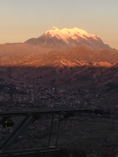 Illimani at sunset