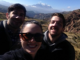 Jeff, me and Derryl in front of Illimani