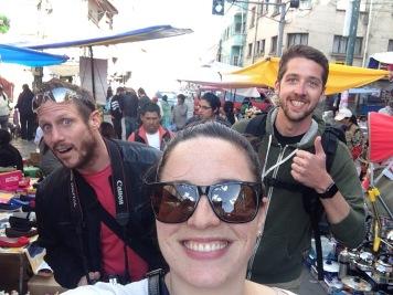On our way to Wtiches' Market! (Matt, me, Derryl)