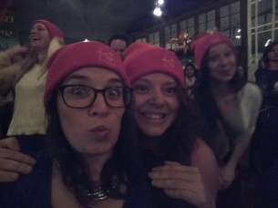 With our new hats (me & Danielle)