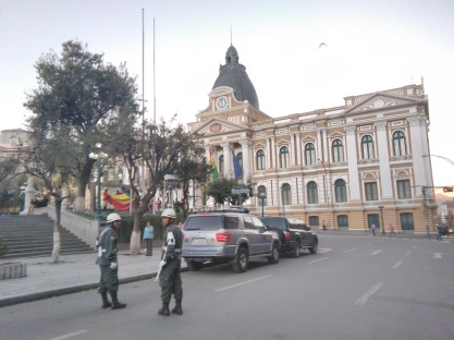Plaza Murillo by day - the Parliament