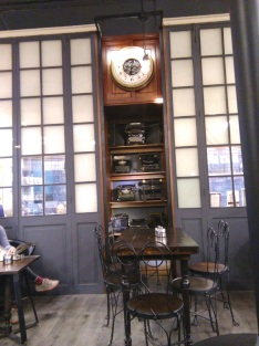 Writers' Cafe, with all the typewriters