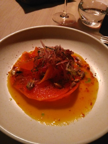 My ceviche-like papaya at Ali Pacha