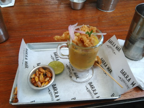 Leche de tigre, another type of ceviche