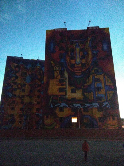 Roberto Mamani Mamani's famous buildings in El Alto
