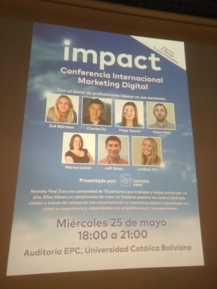 The first ever Positive Impact Digital Marketing Conference in La Paz