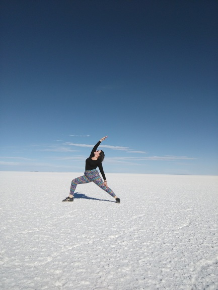 Yoga in the salt flats
