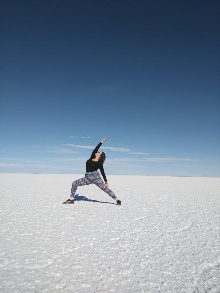 Yoga in the salt flats