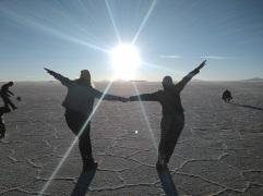 Zoe and I capture the sun!