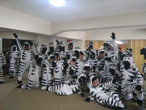 Zebras ready to make some kids' days!