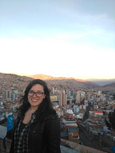 Bidding La Paz adieu at sunset, at Killi Killi overlook
