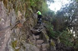 Climbing Huyana Picchu