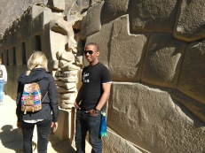 Sean and an Inca wall