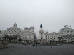 Touring Lima with my family: the main plaza