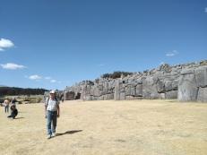 Dad touring Sacsayhuaman