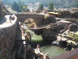 En route to Puno: Inca rope bridge