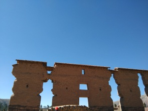 En route to Puno: Raqchi, with the old monastery