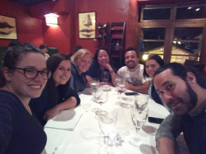 PTY crew dinner at Cicciolina! Me, Kelly, Ella, Anabelle, Eric, Miranda, Jason